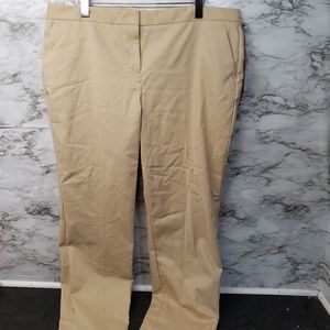 Vince Camuto Dress Pants Khaki Womens 16 New 79$